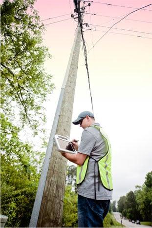 Alden Utility Pole Inspection