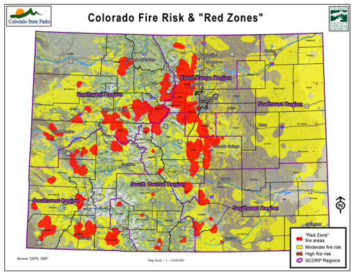 CO Fire Risk and Red Zones