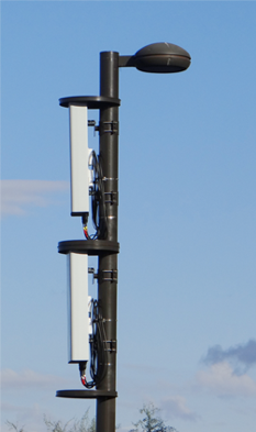 small cells on pole